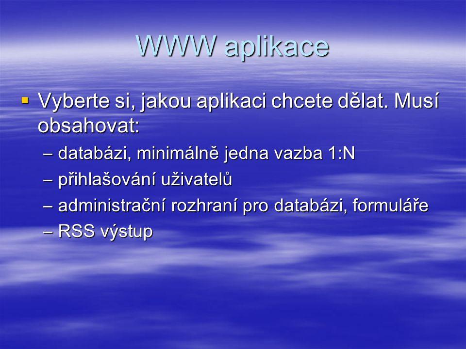 Konstanty  obsah se později ve skriptu nedá změnit  narozdíl od proměnných názvy konstant nezačínají znakem $, zvykem je psát názvy konstant velkými písmeny  PHP obsahuje i několik předdefinovaných konstant, například PHP_OS define( SPOLECNOST , 'VOŠIS Praha ); define( PRODUKT , 'Vyuka PHP ); define( VERZE , 2011); echo SPOLECNOST, představuje svůj nový produkt , PRODUKT, ve ve rzi , VERZE, . ;