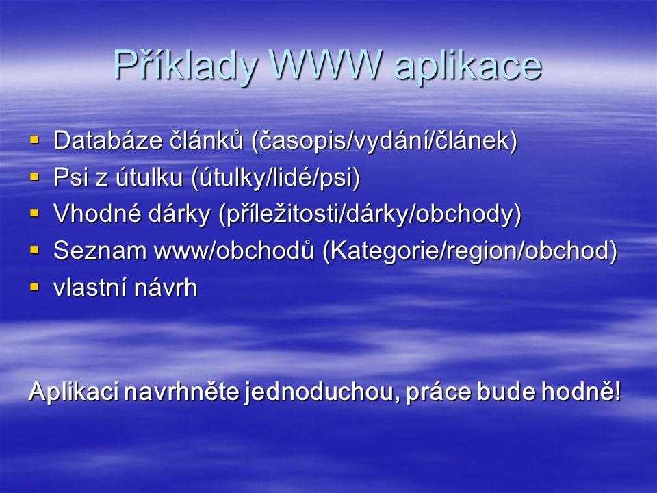 Termíny  PROTOTYP  do 30.10.2014 pošlete návrh své aplikace, rozsah A4 textu  do 20.11.