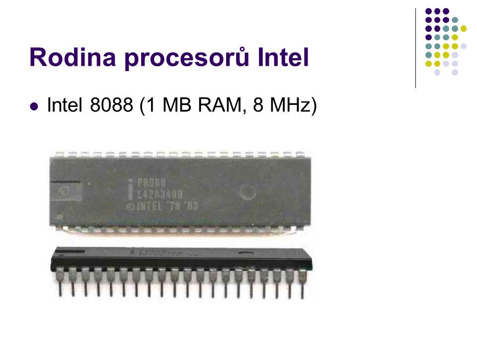 Rodina procesorů Intel Intel 8088 (1 MB RAM, 8 MHz)