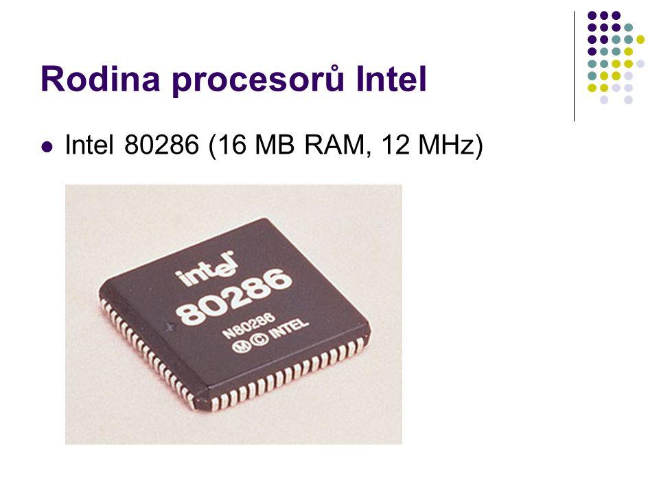 Rodina procesorů Intel Intel 80286 (16 MB RAM, 12 MHz)