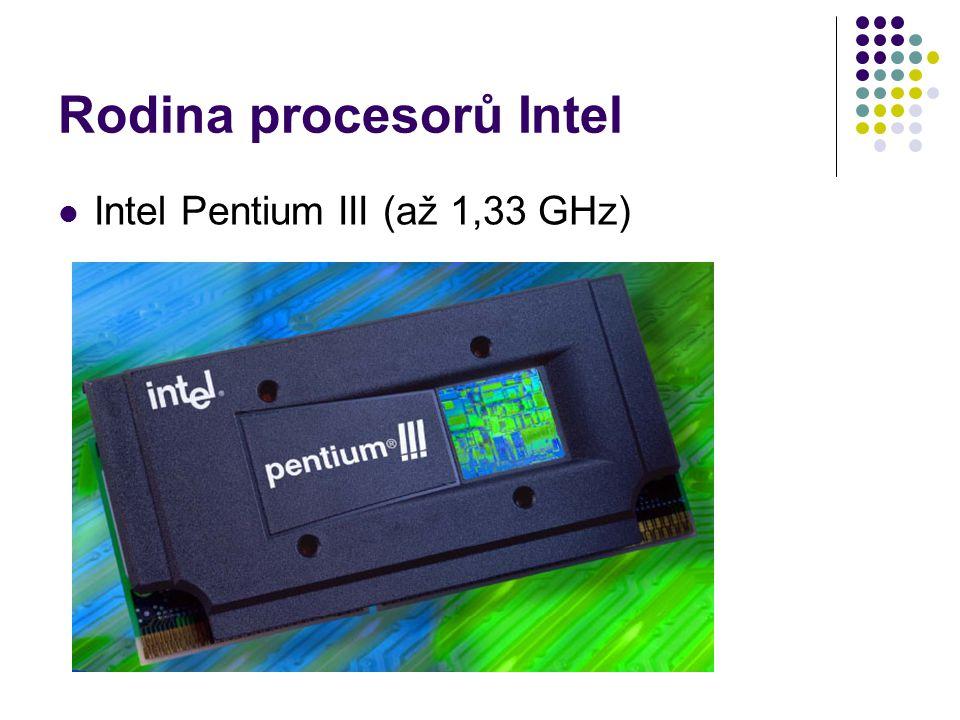 Rodina procesorů Intel Intel Pentium III (až 1,33 GHz)