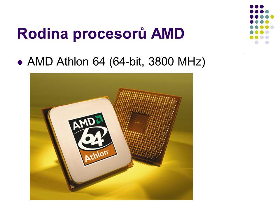 Rodina procesorů AMD AMD Athlon 64 (64-bit, 3800 MHz)