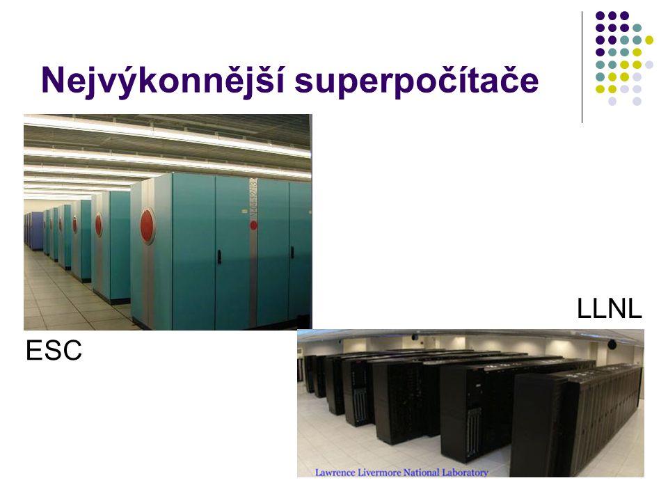 Nejvýkonnější superpočítače ESC LLNL