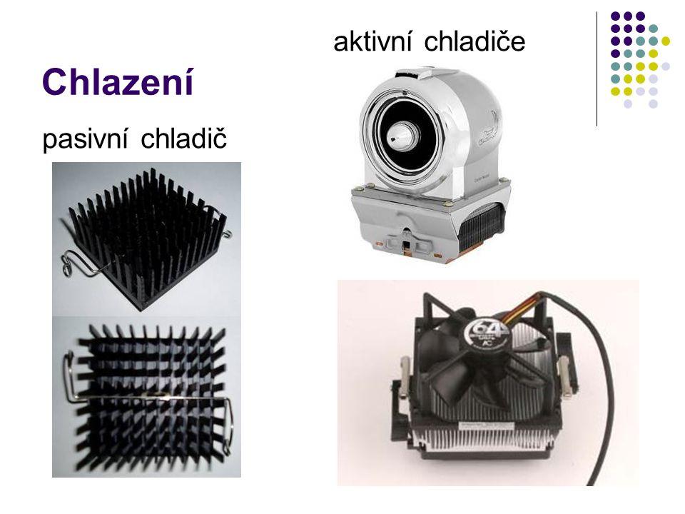 Chlazení pasivní chladič aktivní chladiče