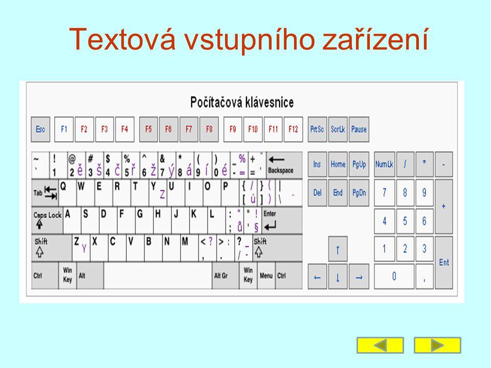 Textová vstupního zařízení