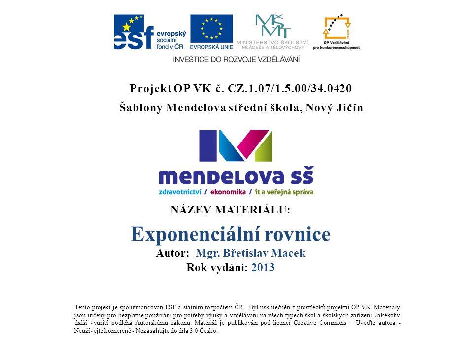 Projekt OP VK č.