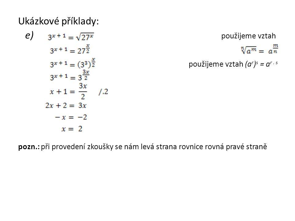 Ukázkové příklady: f)