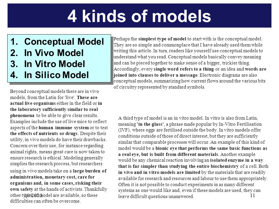 Perhaps the simplest type of model to start with is the conceptual model.