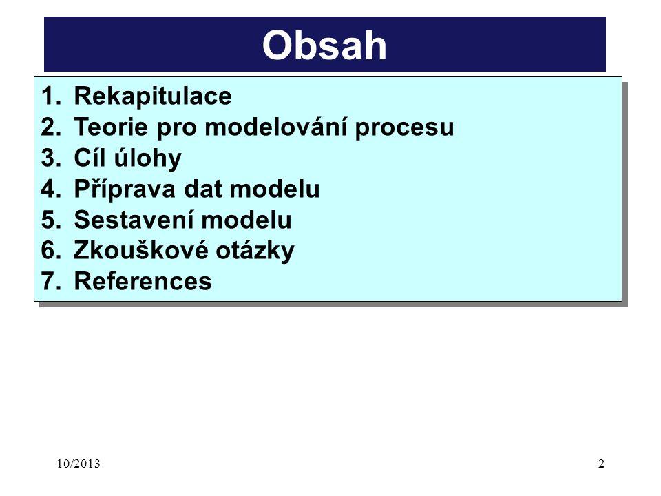 10/201323 ZávěrZávěr Řízení a modelování degradačního proceu Doc. Ing. P. Dlask, Ph.D.