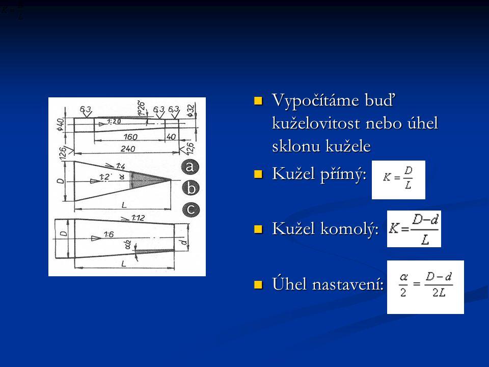 Kuželové kalibry Kontrola kuželové plochy kalibry Kontrola kuželové plochy kalibry Kontrola kuželu – kalibr se potře jemnou barvou – pootočením se čáry smažou v místě styku Kontrola kuželu – kalibr se potře jemnou barvou – pootočením se čáry smažou v místě styku Tolerančními kalibry se kontrolují délky nebo průměry kužele Tolerančními kalibry se kontrolují délky nebo průměry kužele