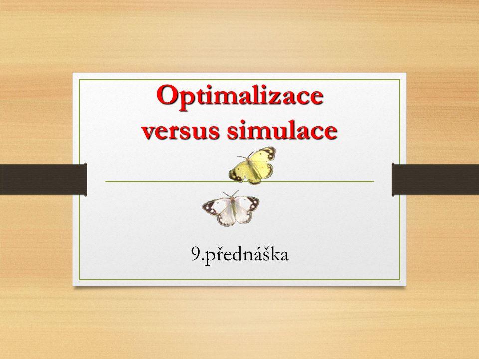 Optimalizace versus simulace 9.přednáška