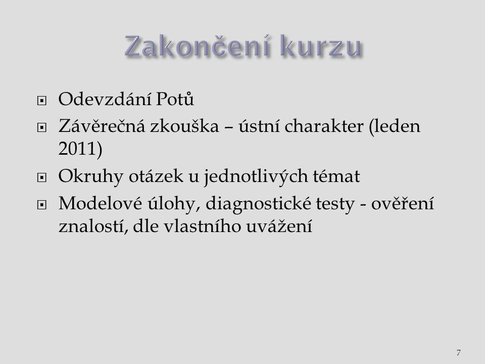  Studijní texty jako průvodce  Prostudovat povinnou literaturu  Potůček - Veřejná politika.