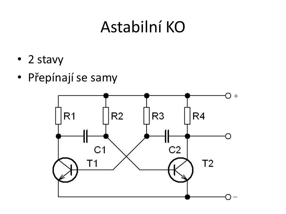 Klopný obvod RS 2 vstupy 2 výstupy - Q a Q