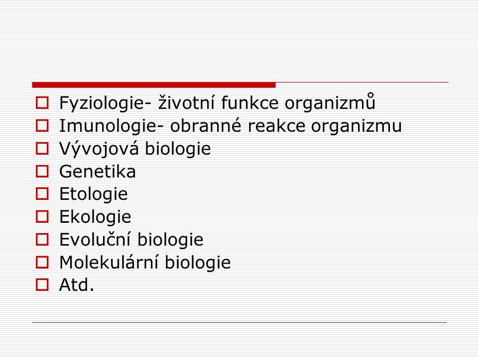  Morfologie a anatomie  Organologie- orgány  Osteologie-  Histologie-  Cytologie- studium buněk  Karyologie- buněčné jádro a chromozomy kosti, k