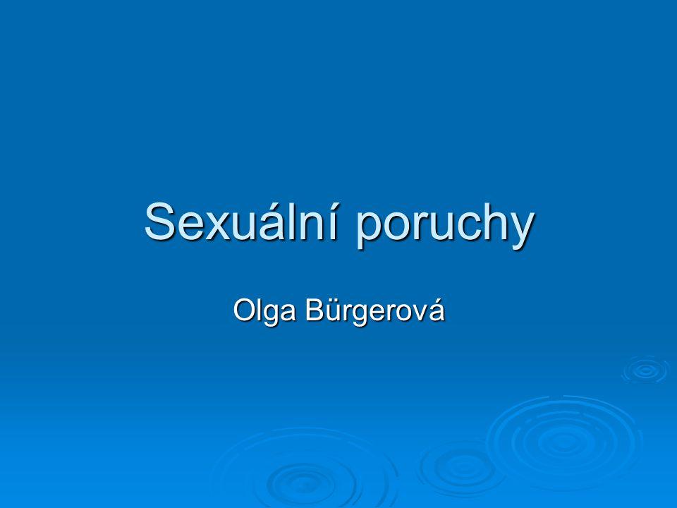 Sexuální poruchy Olga Bürgerová
