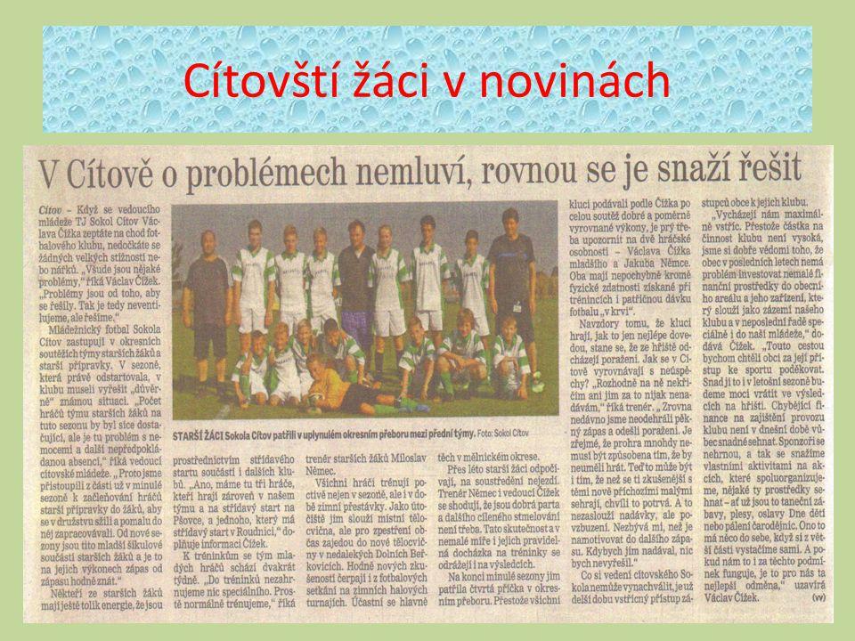 Cítovští žáci v novinách