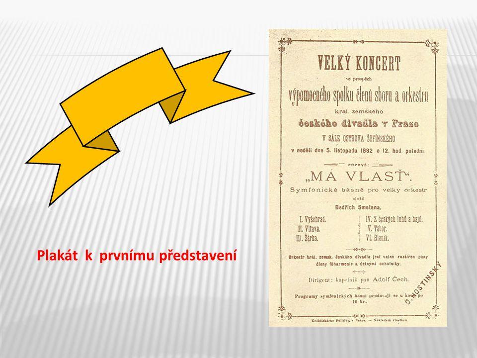 Plakát k prvnímu představení