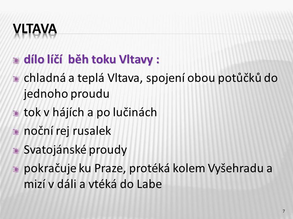 Partitura k Vltavě
