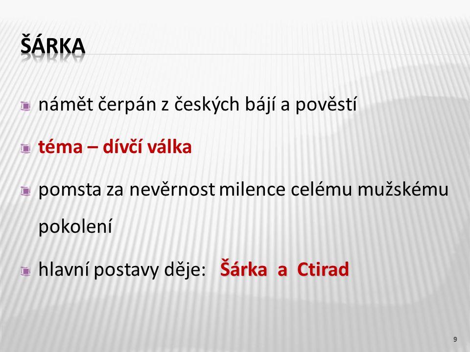 symfonická báseň oslavuje krásu české krajiny Jabkenic inspirací byla krajina kolem Jabkenic vykreslení citů při pohledu na českou zem zobrazuje vznešenost lesa i vesnickou slavnost zpěvy veselé, jásavé i melancholické 10