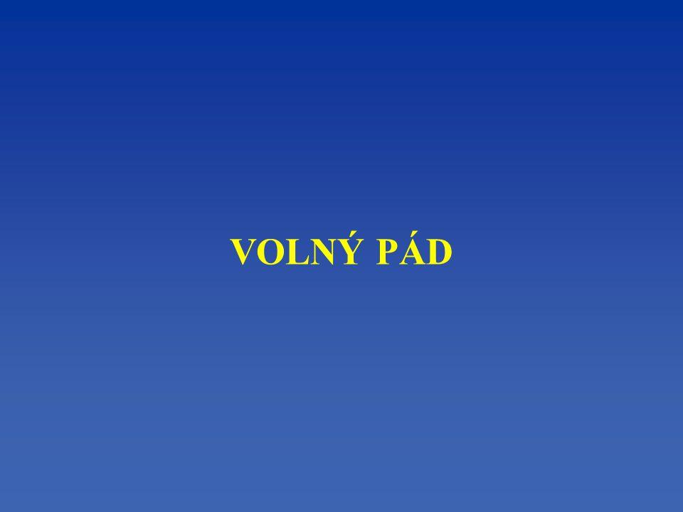 Volný pád - se nazývá pád volně puštěných těles (bez udělení počáteční rychlosti) na Zemi ve vakuu.