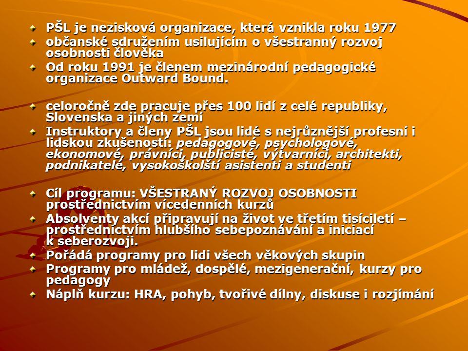 PŠL je nezisková organizace, která vznikla roku 1977 občanské sdružením usilujícím o všestranný rozvoj osobnosti člověka Od roku 1991 je členem meziná