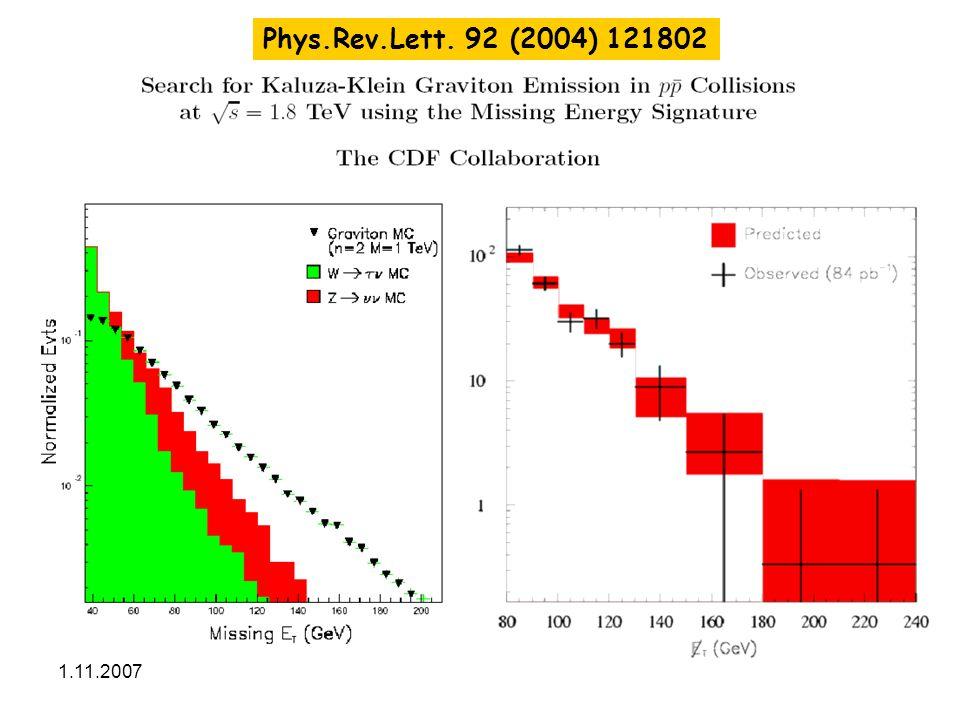 1.11.2007Malá skála31 Phys.Rev.Lett. 92 (2004) 121802
