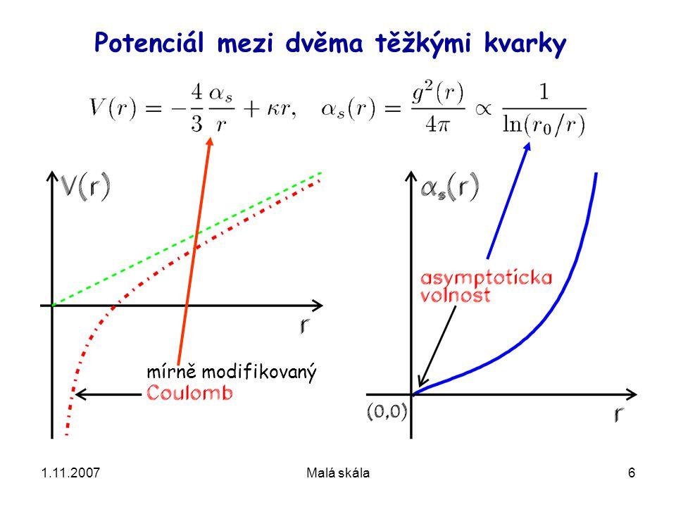 1.11.2007Malá skála17 Z přednášky F. Wilczeka dva jety tři jety dilepton +foton