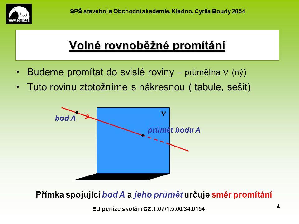 SPŠ stavební a Obchodní akademie, Kladno, Cyrila Boudy 2954 EU peníze školám CZ.1.07/1.5.00/34.0154 5 Při zobrazování těles používáme tyto zásady: Rovinný obrazec ležící v rovině rovnoběžné s nákresnou (v tzv.