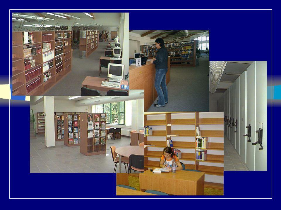 Přístupnost knihovny n Umístění knihovny n Bory, Univerzitní 18 n vstup –hlavním vchodem zvenku (za budovou CIV) –vnitřkem z budovy CIV