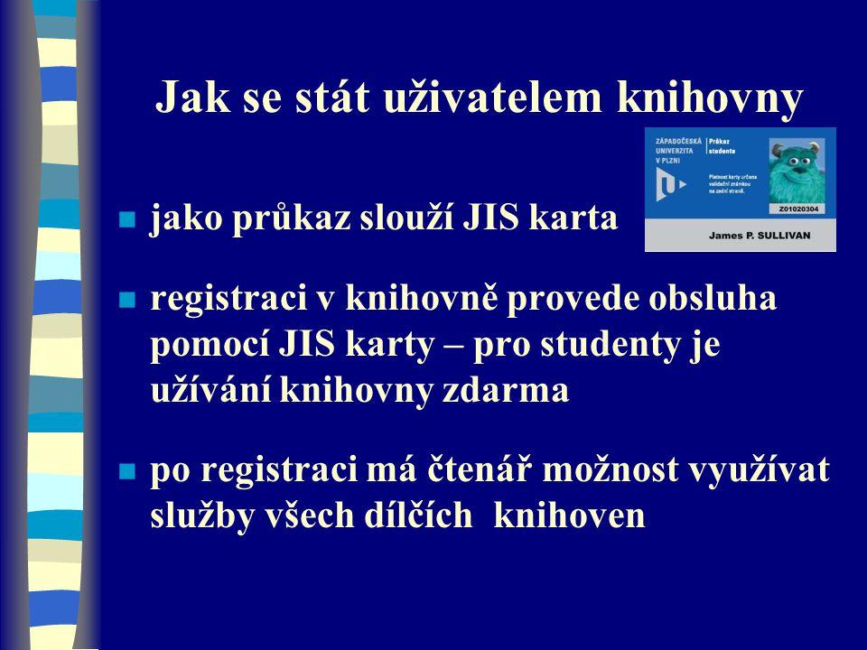 Webové stránky knihovny elektronické informační zdroje n tematicky roztříděné –databáze –elektronické časopisy –volné zdroje na internetu n metodická pomoc studentům při vyhledávání