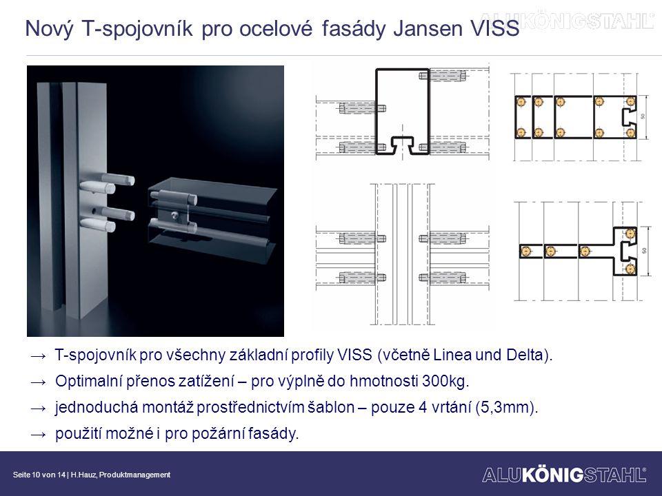 Seite 11 von 14   H.Hauz, Produktmanagement Další vývoj v oblasti ocelových fasád VISS-TVS vyrovnávací těsnění →K vyrovnání rozdílné tloušťky výplní (až do 10mm).