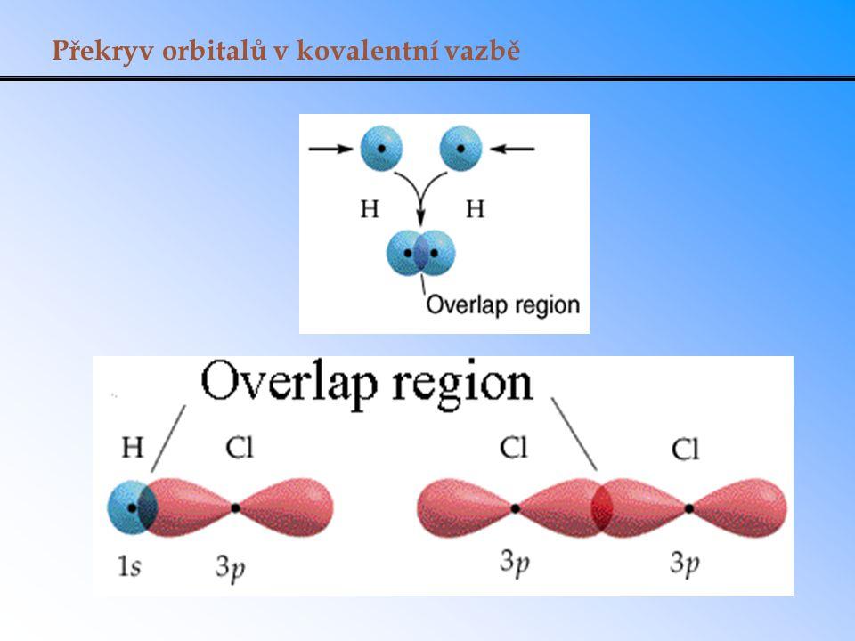 Překryv orbitalů v kovalentní vazbě