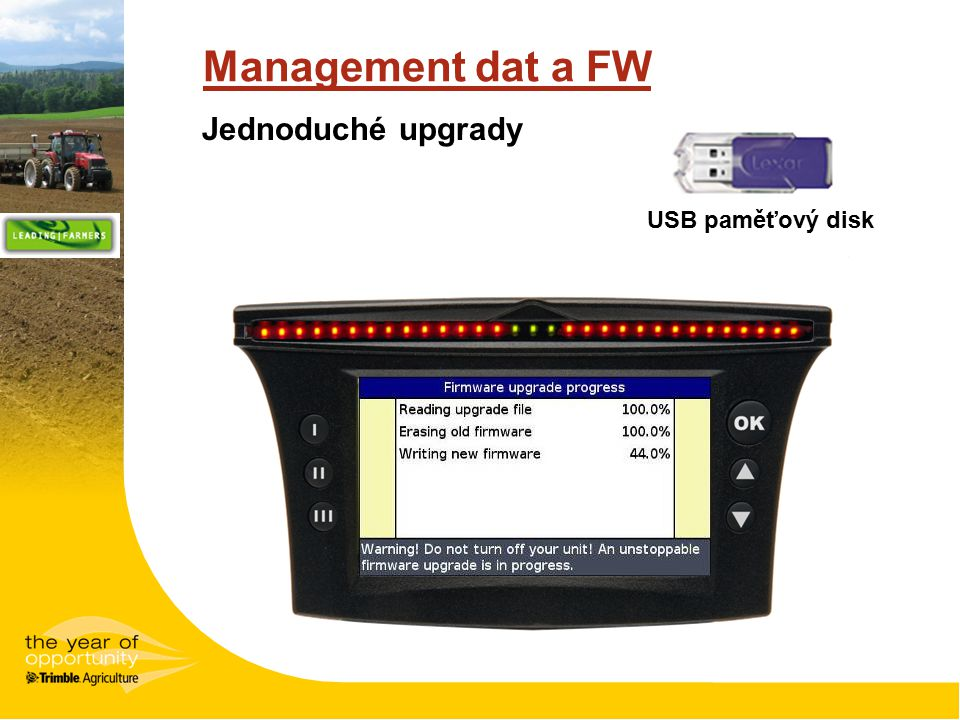 Management dat a FW USB paměťový disk