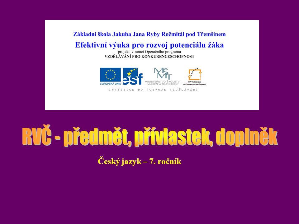 Český jazyk – 7. ročník