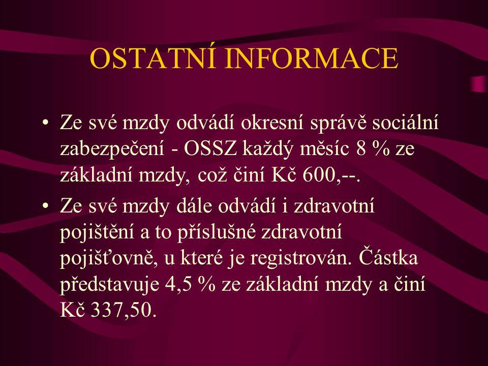 ZÁVĚR O PANU NOVÁKOVI Pan Novák si v měsíci březnu vydělal celkem Kč 5.572,50, ale vzhledem k tomu, že si v polovině měsíce vybral zálohu, náleží mu odměna Kč 3.572,50.