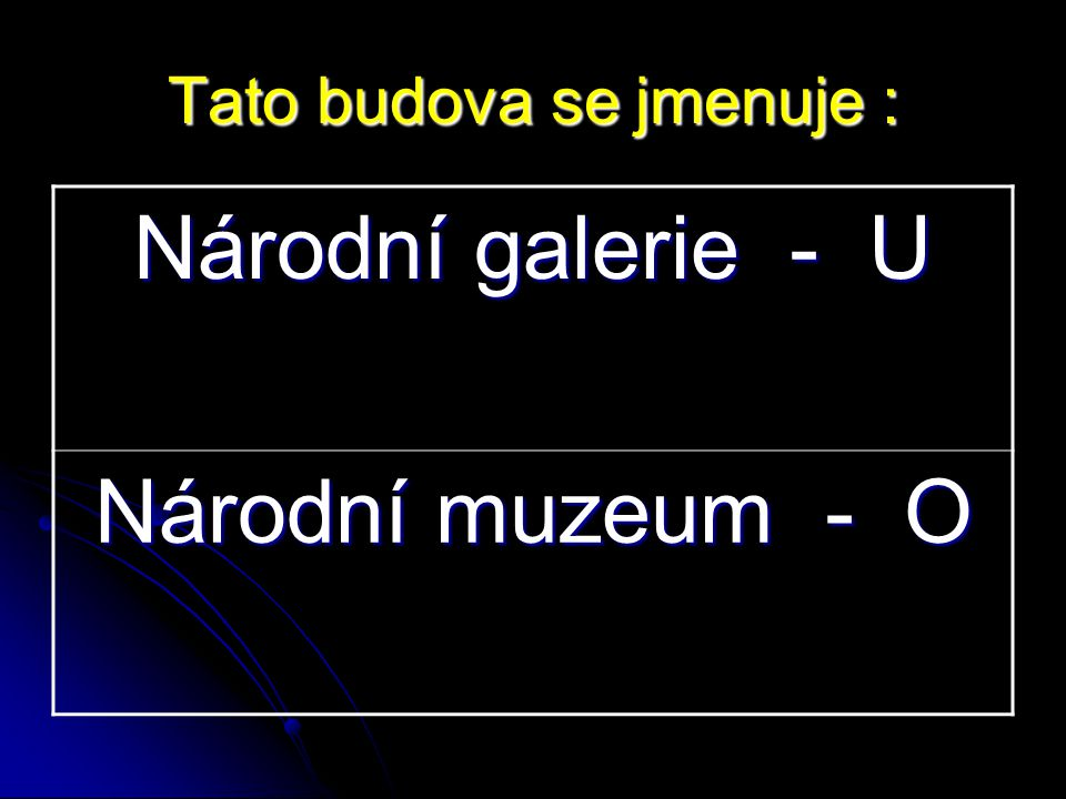 Národní galerie - U Národní muzeum - O