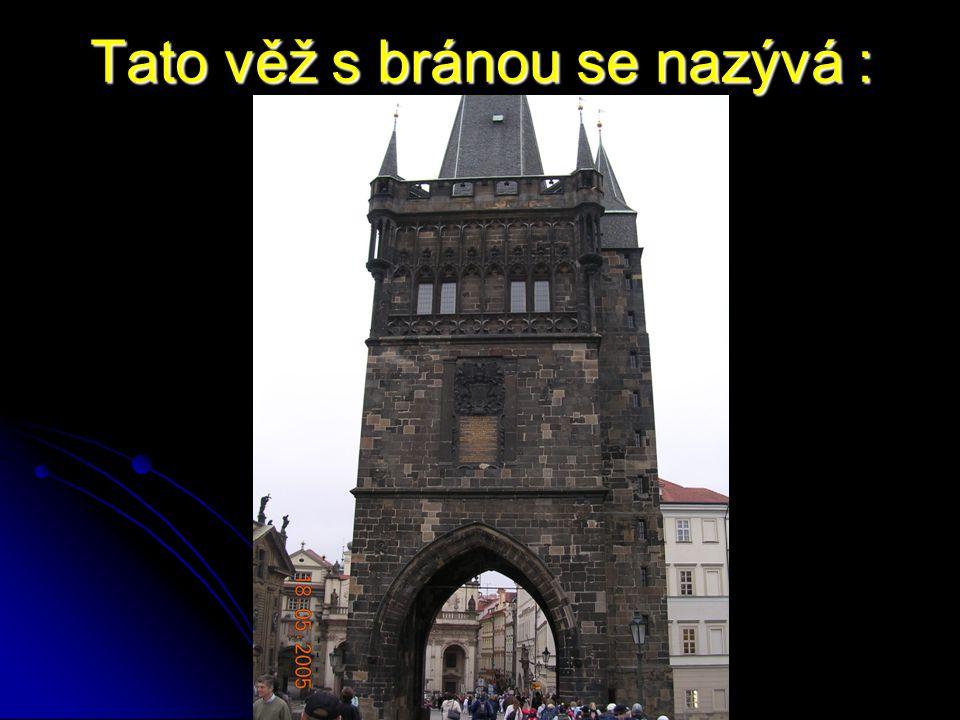 Tato věž s bránou se nazývá :