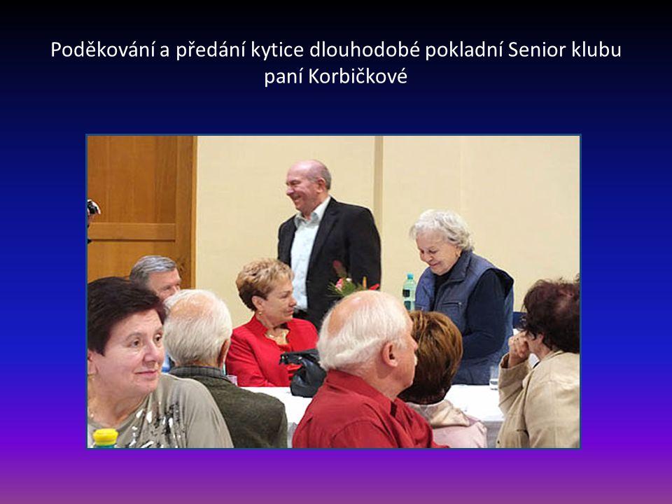 Předsedkyně Senior klubu paní Milada Olejníková rekapituluje činnost klubu za období roku 2014 a přítomné členy seznamuje s plánem činnosti na rok 2015