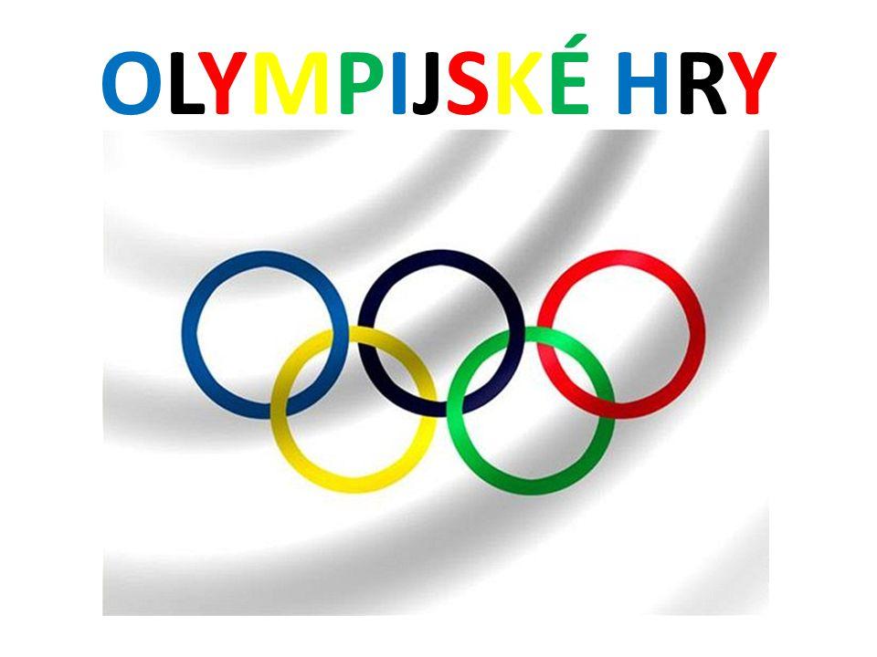 OLYMPIJSKÉ HRYOLYMPIJSKÉ HRY hromadná mezinárodní sportovní soutěž v mnoha různých disciplínách a sportech účastní se jich sportovci z celého světa pořádají se jednou za čtyři roky od roku 1994 jsou rozděleny na letní a zimní olympijské hry