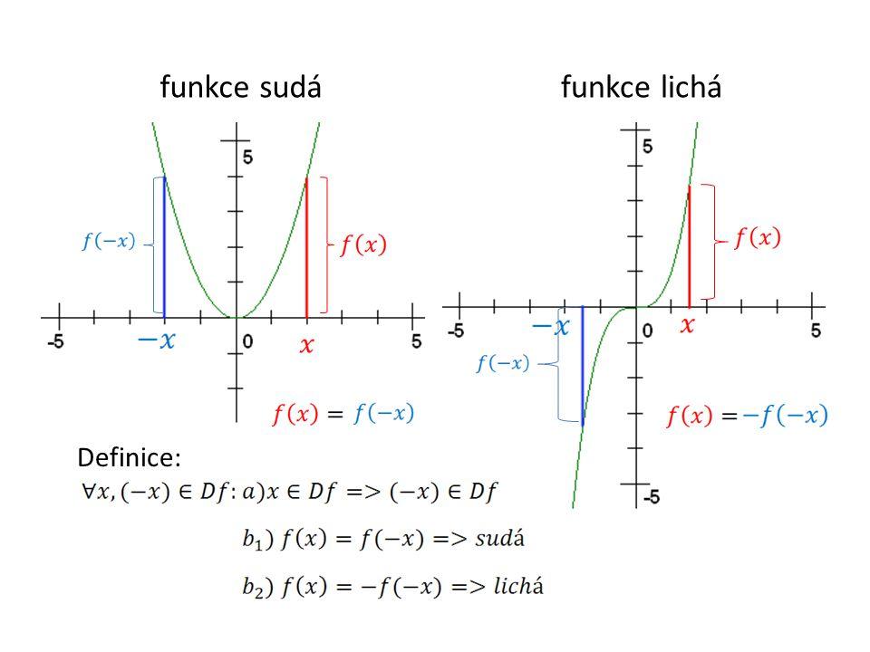 funkce sudáfunkce lichá Definice: