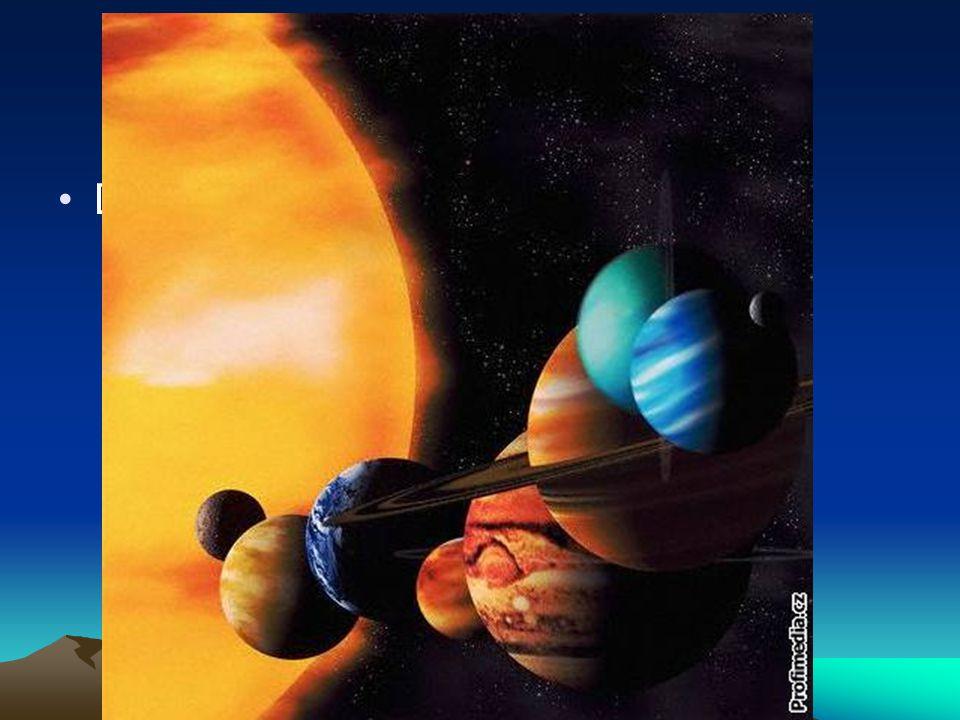Doplňte do obrázku názvy planet Planety sluneční soustavy - opakování