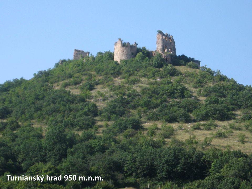 Turnianský hrad 950 m.n.m.