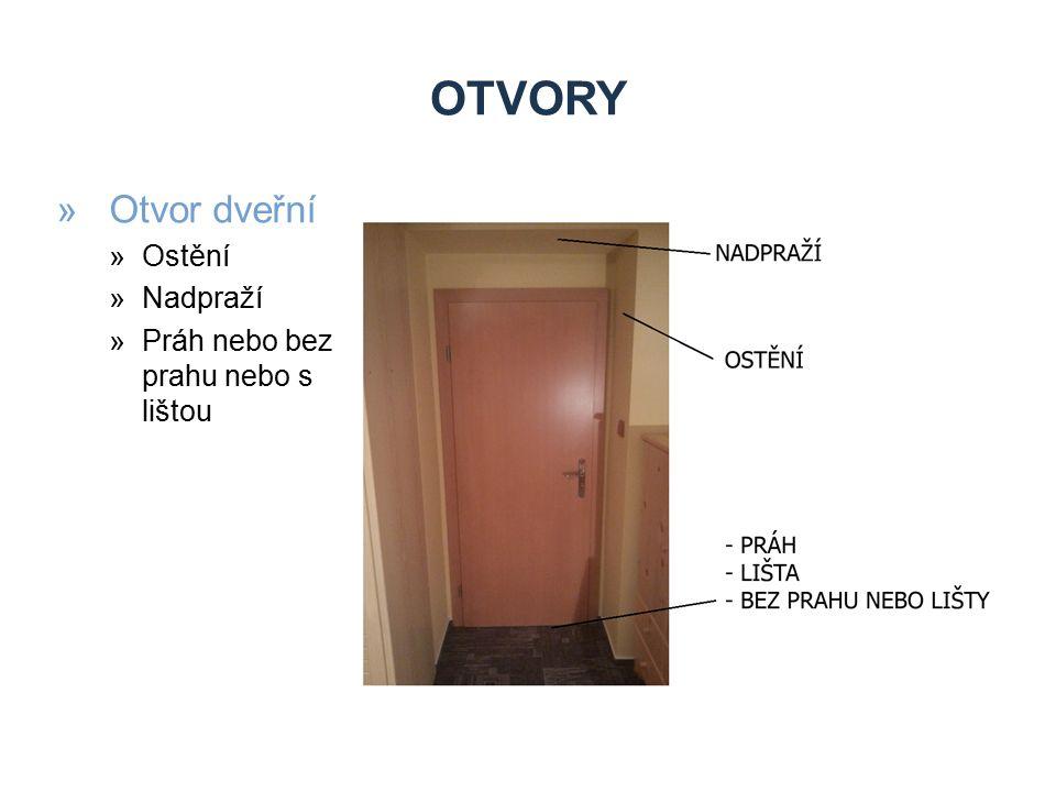 OTVORY »Otvor okenní »Ostění »Nadpraží »parapet