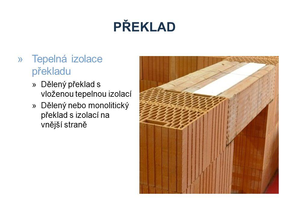 PŘEKLAD »Umístění překladu »Těsně pod stropní konstrukci »V souladu s výškovým modulem – na ložnou spáru