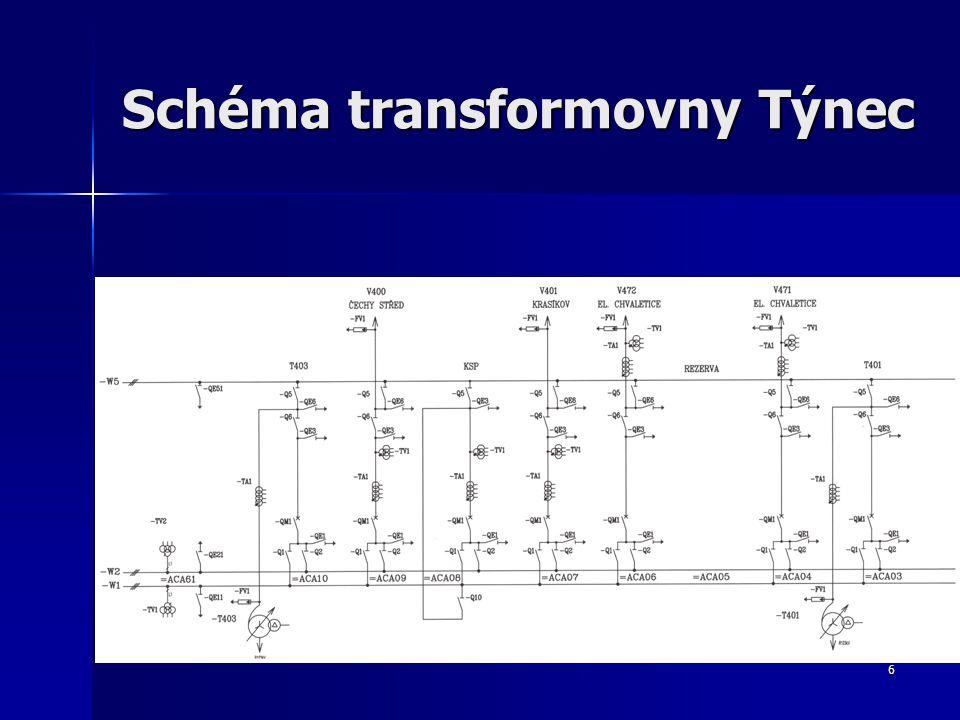 6 Schéma transformovny Týnec