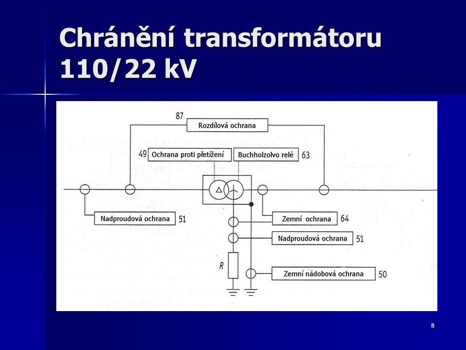8 Chránění transformátoru 110/22 kV