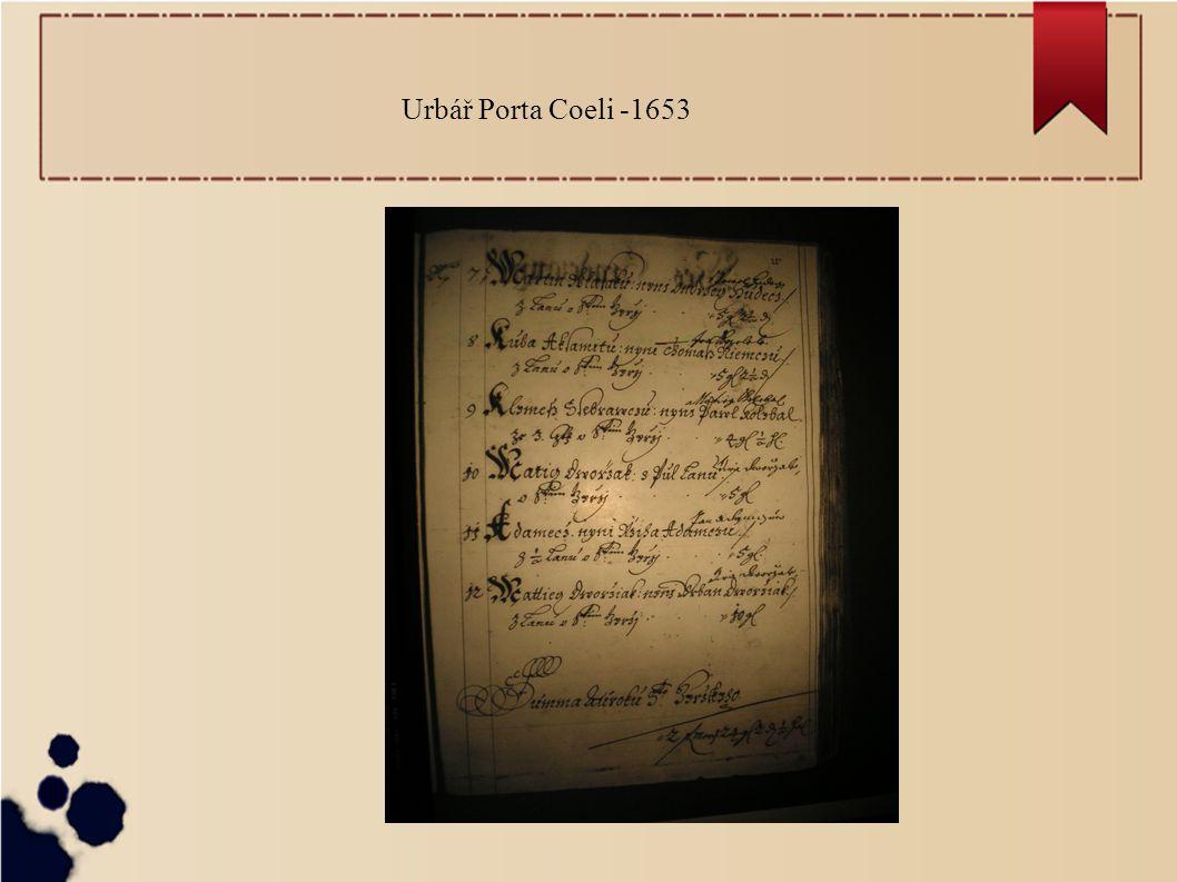 Urbář Porta Coeli -1653