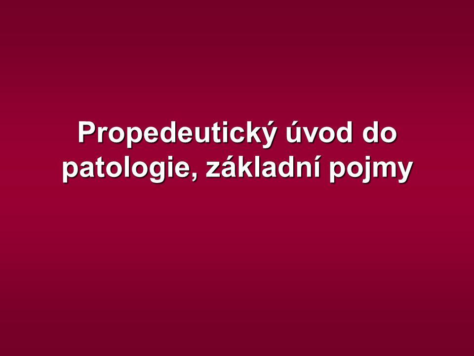 Propedeutický úvod do patologie, základní pojmy