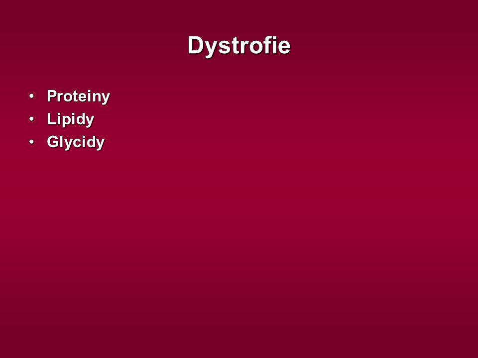 Dystrofie ProteinyProteiny LipidyLipidy GlycidyGlycidy