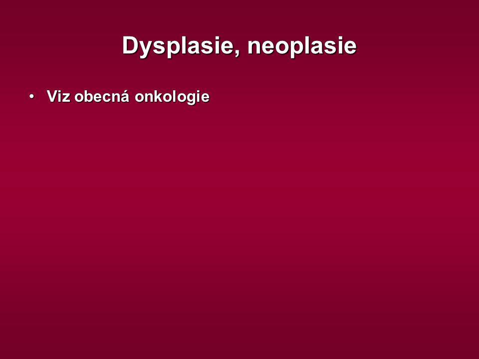 Dysplasie, neoplasie Viz obecná onkologieViz obecná onkologie